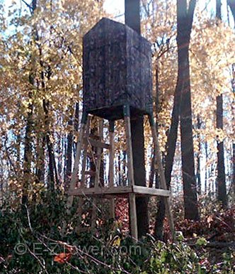 E Z Tower Hunting Blind Brackets Raise You Hunt To A